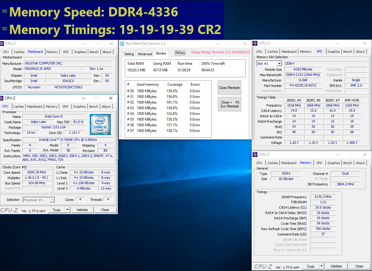 G Skill Trident Z DDR4-4333MHz 16GB (8GBx2) RAM kit