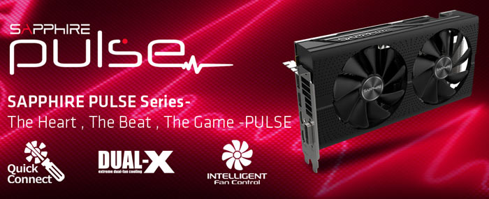 Despite being Sapphire's second tier offerings the PULSE series still offers the following premium features: