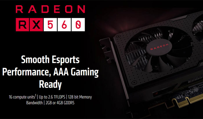AMD quietly adds the RX 560 to its Radeon graphics card range