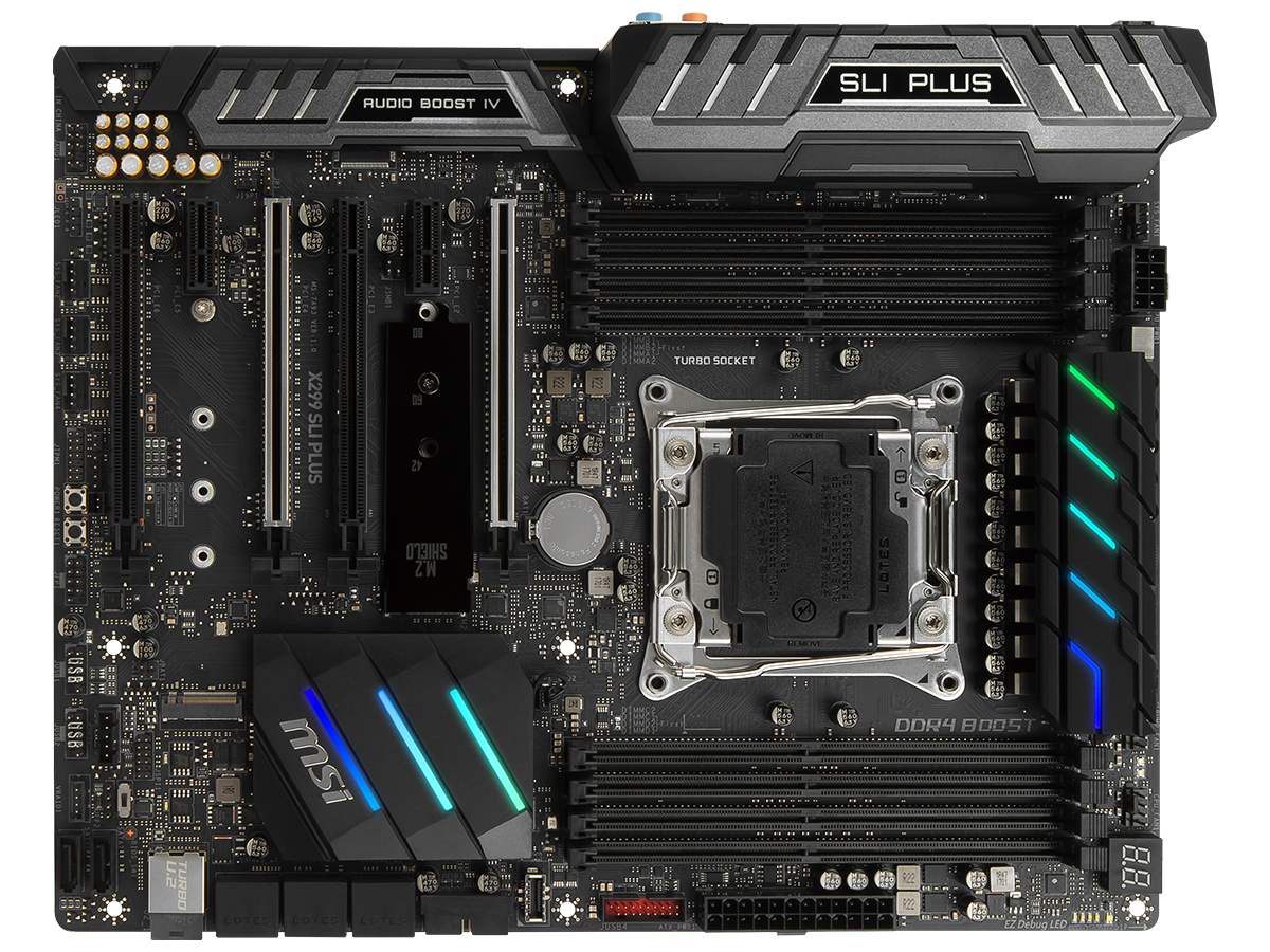 Review Msi X299 Sli Plus Mainboard The Diagrams Identify Main Components Of Intelr Desktop Board It Is Fair To Expect Perfection At This Premium End Market And Manufacturers Are Having Work Quickly Resolve Any Remaining