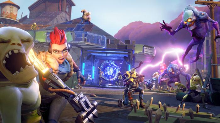epic games fortnite action building game e3 trailer released - is fortnite back up