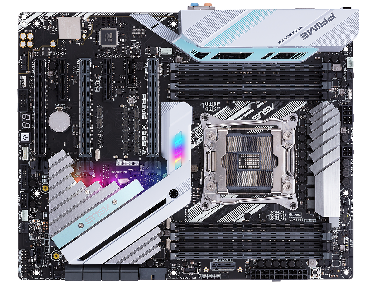Review Asus Prime X299 A Mainboard The Diagrams Identify Main Components Of Intelr Desktop Board One First Examples To Arrive On Hexus Test Bench Is 275 Solution Offering Plenty Goodness Sans Some