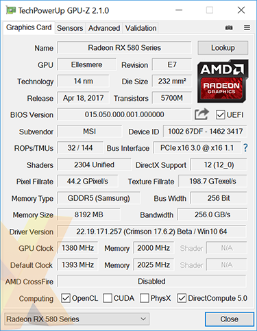 Review: MSI Radeon RX 580 Gaming X 8GB - Graphics - HEXUS net - Page 2