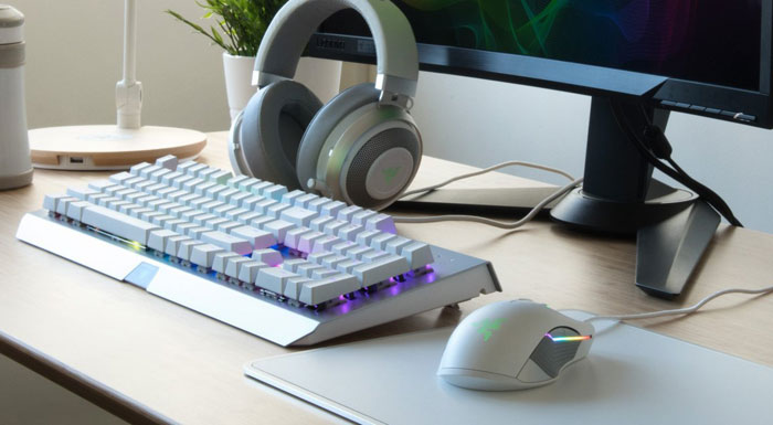 8bacf9cbe4d Razer's best selling peripherals are being made available in a new ethereal  white or 'Mercury edition', and with a dark grey metallic sheen or  'Gunmetal ...