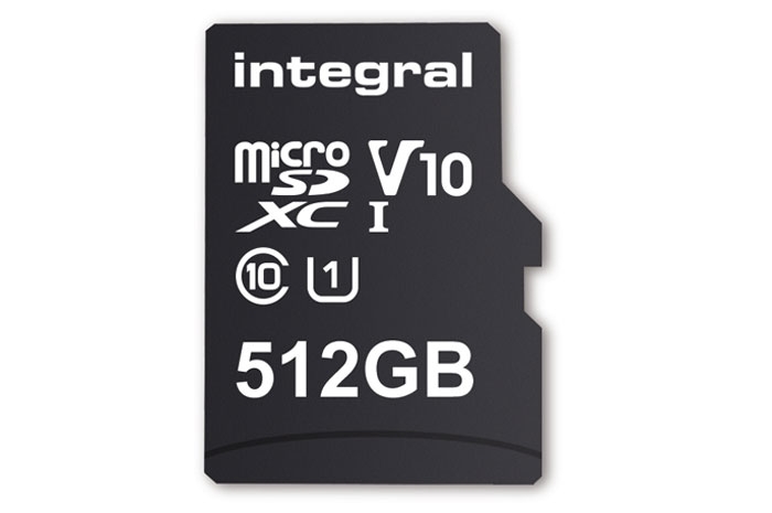 Integral announces world's first 512 GB memory card