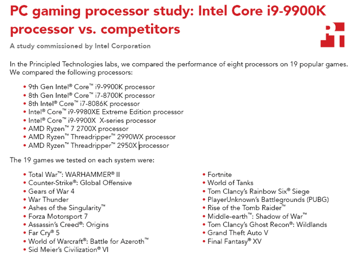 Principled Technologies (PT) responds to i9-9900K test