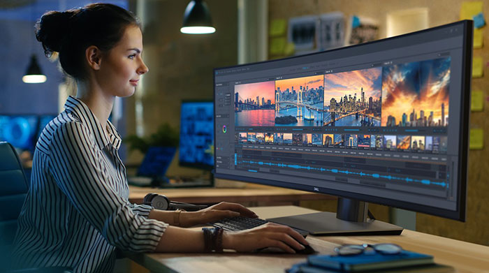 Dell UltraSharp 49 curved dual-QHD monitor launched