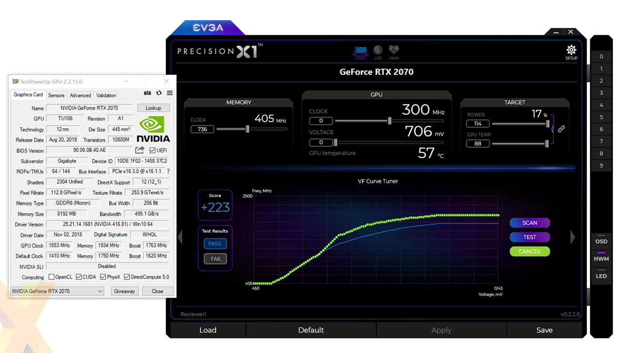 Review: Gigabyte GeForce RTX 2070 WindForce - Graphics
