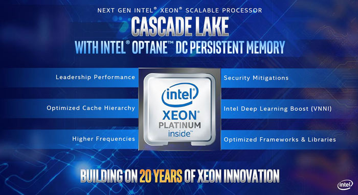 Intel unveils Xeon Cascade Lake Advanced Performance Platform