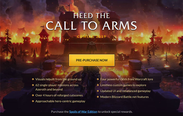 Warcraft III: Reforged offers a