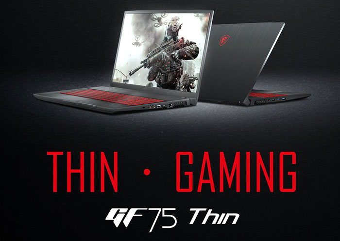MSI GF75 Thin features 17-inch screen and drop-down hinge