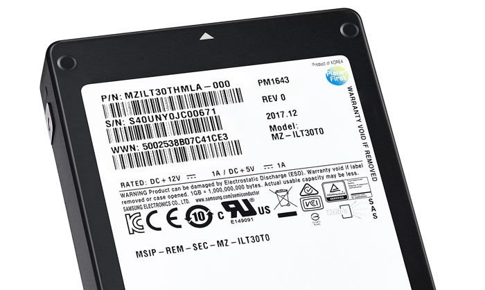 Samsung selling 30TB SSD