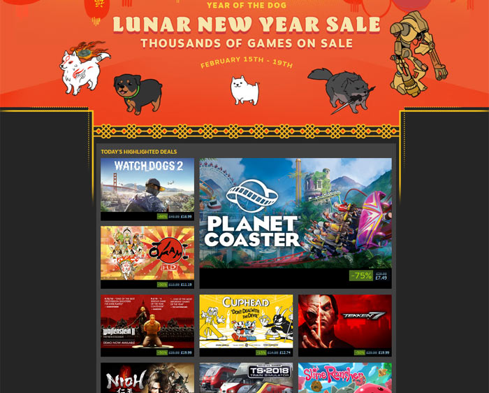 Steam's Lunar New Year sale is supposed to kick off today