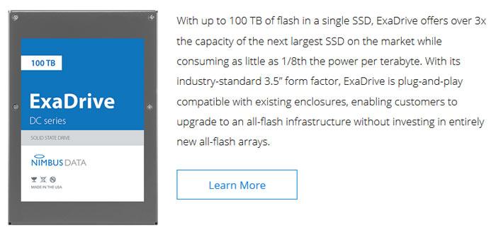 nouveau style edf9f 3fd9f Nimbus Data ExaDrive DC100 SSD boasts 100TB capacity ...