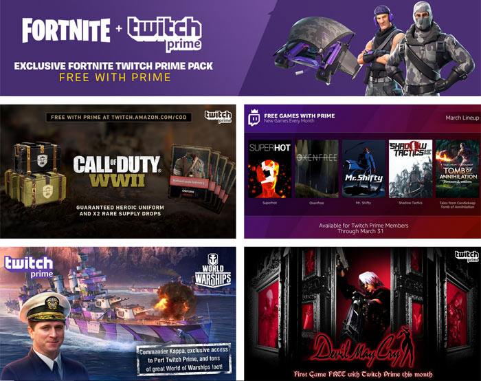 free with prime at twitch amazon com cod