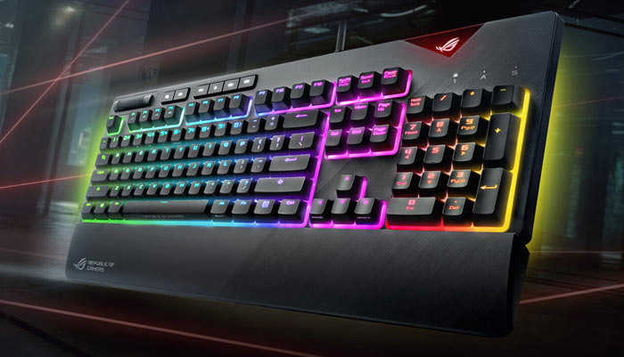 The Asus ROG Strix Flare ships with Cherry MX RGB switches. Purchasers can  choose red or brown type characteristic response switches initially d7ef853dd5aab