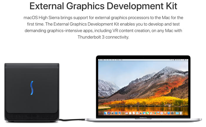 4 brings eGPU support to iMacs and Macbooks
