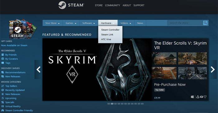 Removal of Steam Machines from Steam homepage