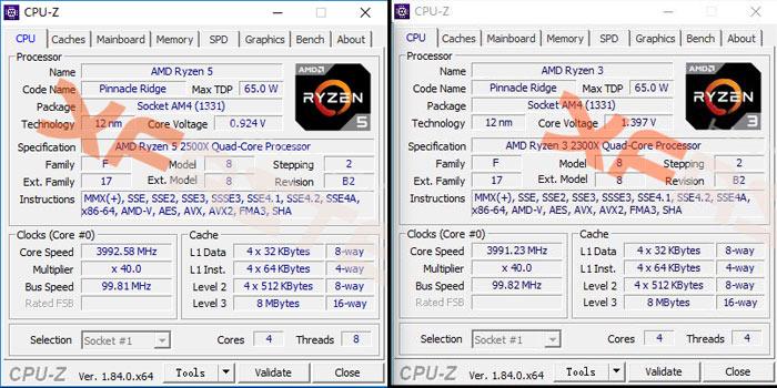 AMD Ryzen 3 2300X and Ryzen 5 2500X specs leak online - CPU - News