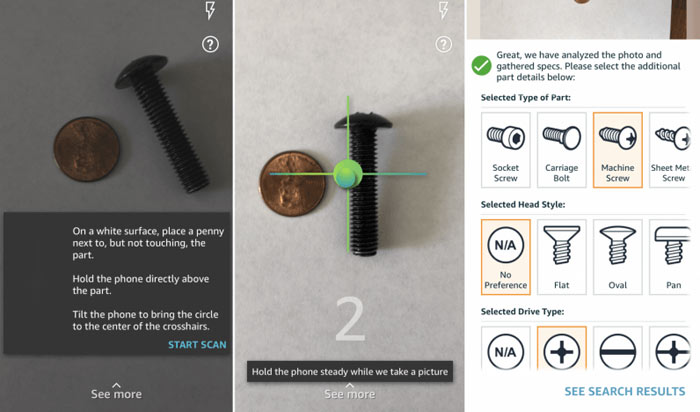Amazon's Part Finder helps you find those weird screws you need