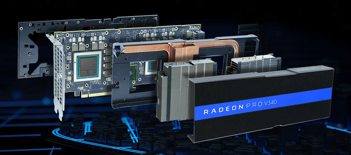 AMD Radeon Pro V340 graphics card announced - Graphics