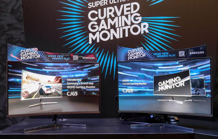 Samsung launches CJG5 WQHD curved VA gaming monitors