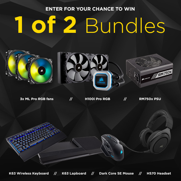 Win one of two awesome Corsair upgrade bundles - Cooling