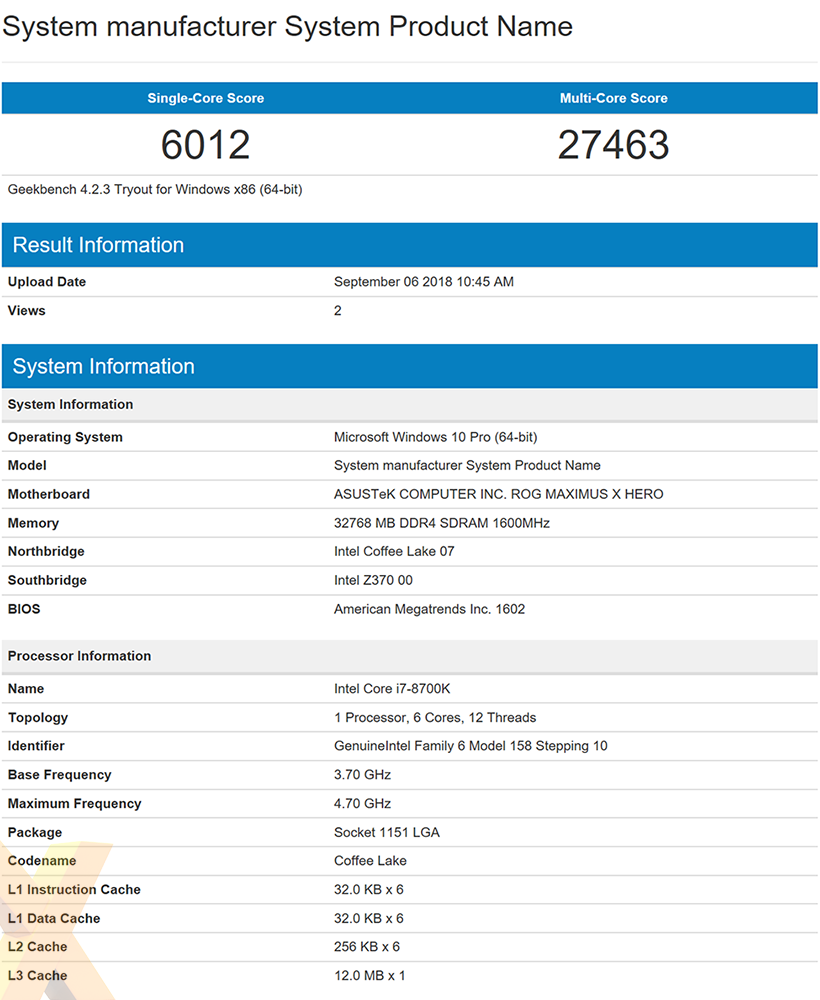 Here's what the Intel Core i7-9700K scores in Geekbench - CPU - News