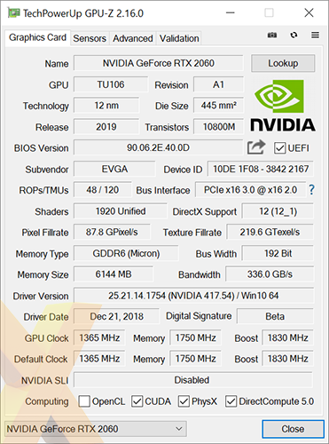 Review: EVGA GeForce RTX 2060 XC Ultra - Graphics - HEXUS