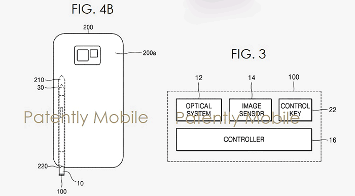 Samsung secures patent for S Pen with optical zoom camera