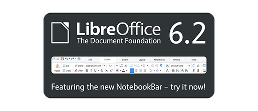 LibreOffice 6.2 With NotebookBar Now Available