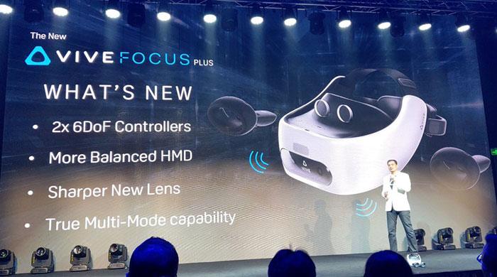 HTC Vive Focus Plus headsets to debut on April 15