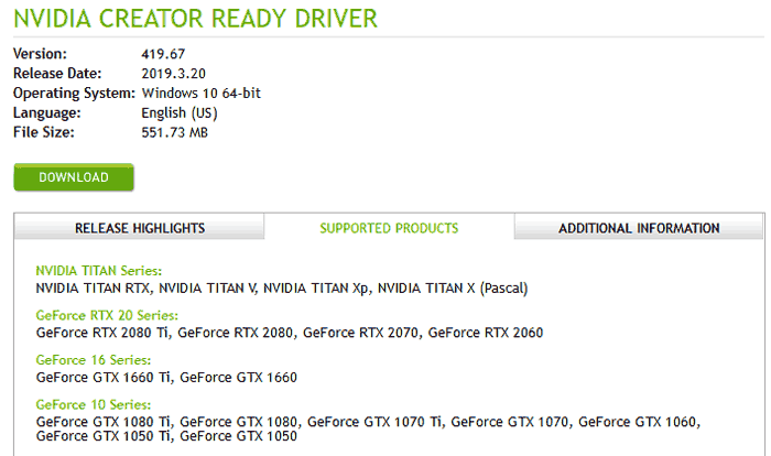Nvidia releases its first Creator Ready Drivers - Software - News
