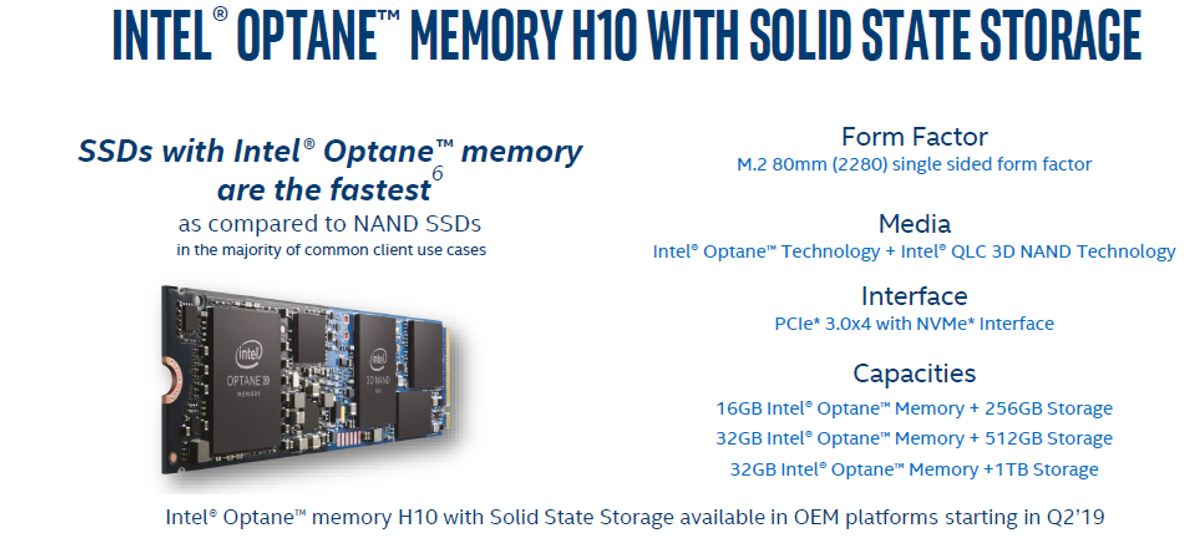Intel Optane H10 Memory coming to a laptop near you - Storage - News
