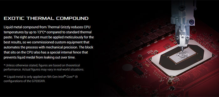 Asus starts to use liquid metal compound on its laptop CPUs