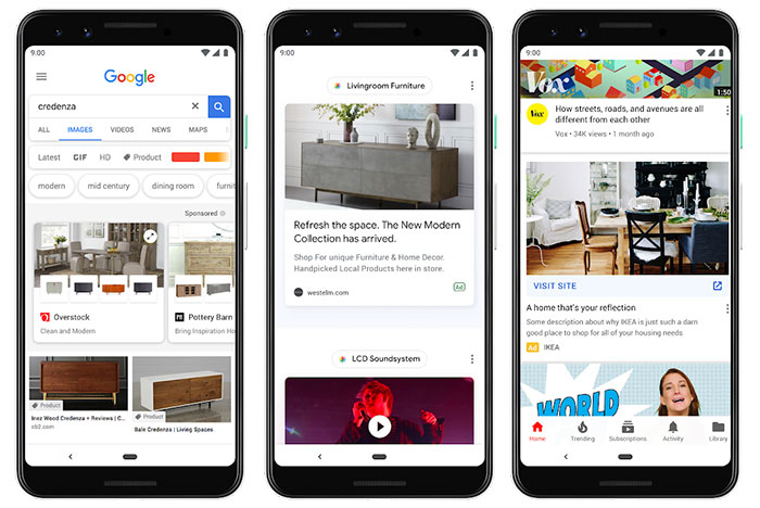Core Google smartphone apps to include adverts for first