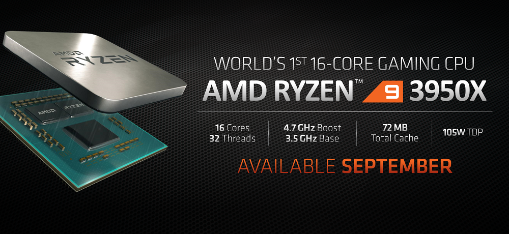AMD Ryzen 9 3950X unveiled - 16 cores and 32 threads for gamers