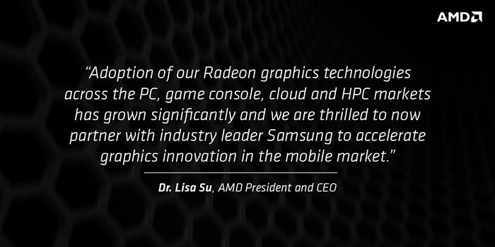 AMD and Samsung Announce Partnership in Ultra LowPower, High Perf Graphics Technologies