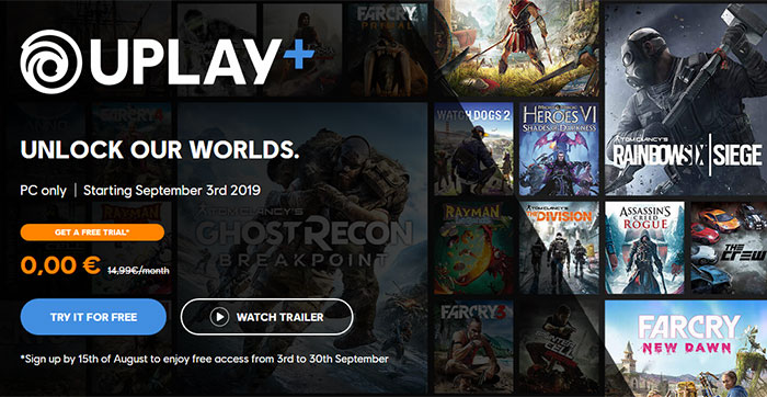 Ubisoft announces UPlay+ subscriptions (PC Only, $14 99) - PC - News