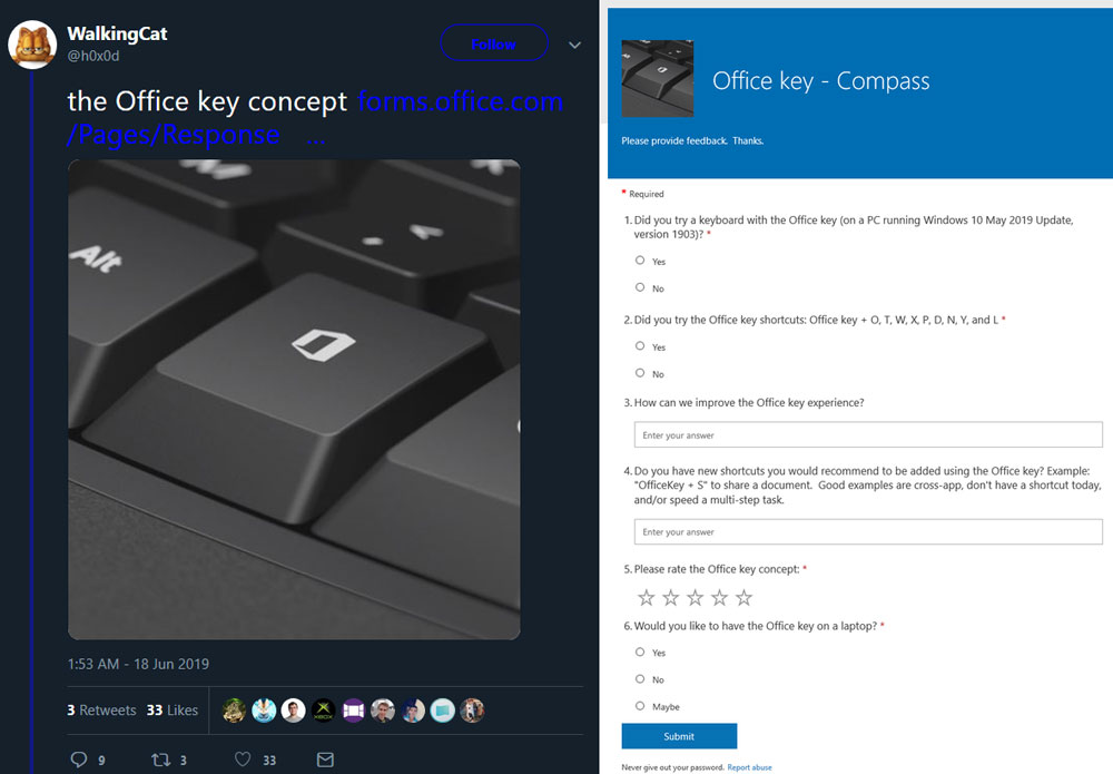 Microsoft May Add a Dedicated Office Key to Keyboards