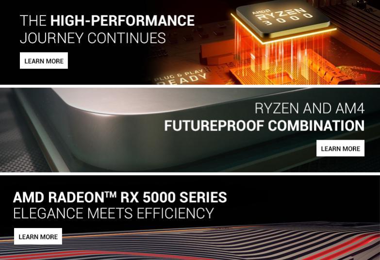 HEXUS net - AMD landing page