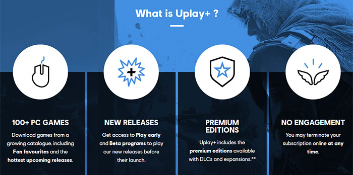 Ubisoft reveals the 108 games available to Uplay+