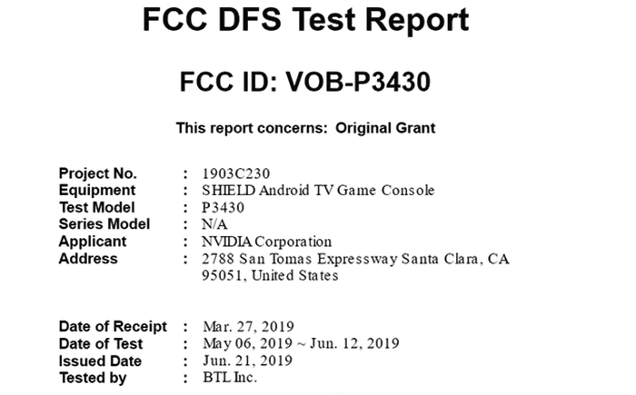 Rumoured new Nvidia Shield TV shows up in FCC listing