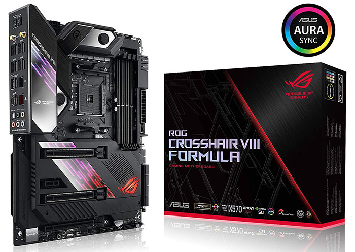 Asus ROG Crosshair VIII Formula X570 listed on Amazon UK