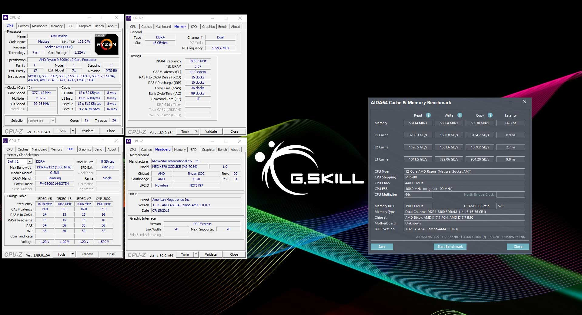 G Skill releases Trident Z Neo DDR4-3800 CL14 RGB memory