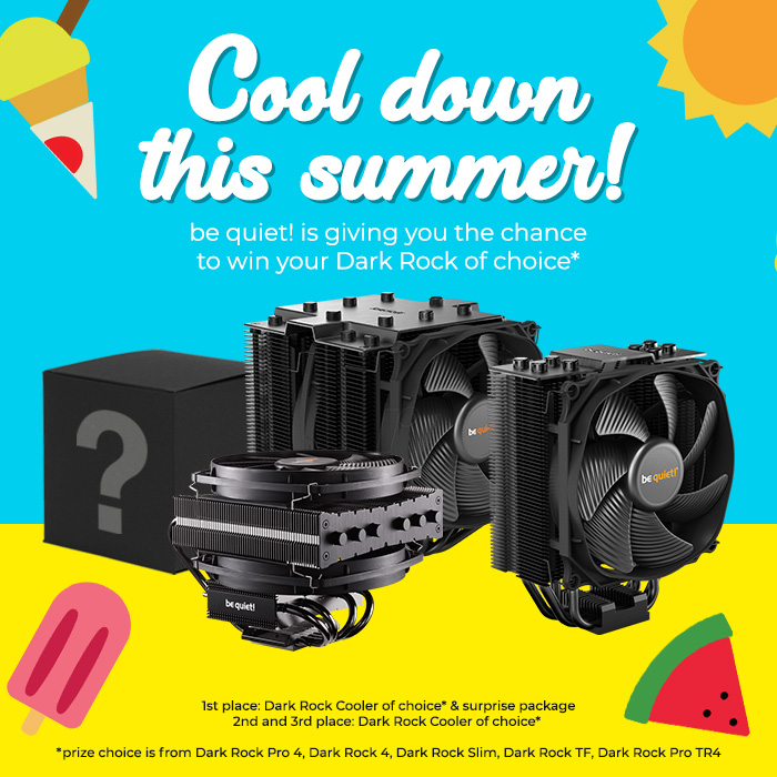 Win your choice of be quiet! Dark Rock CPU cooler - Cooling