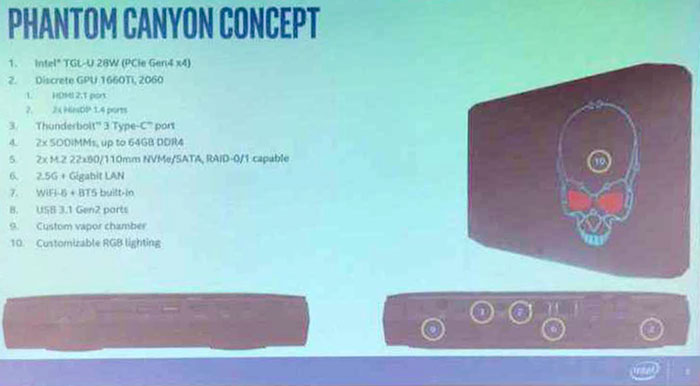 Intel Phantom Canyon gaming NUC with RTX 2060 spotted