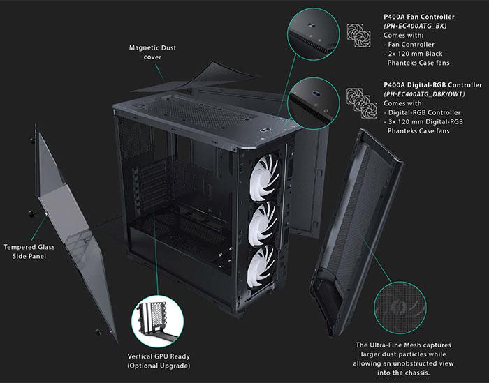 Phanteks launches the Eclipse P400A high airflow case