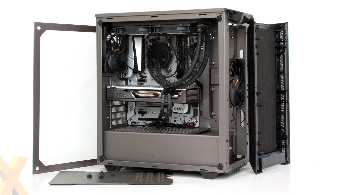 Pure Base 500 Mid Tower Gaming Case Be Quiet Black USB 3.0