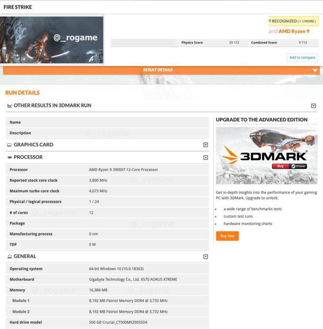 Amd Ryzen 9 3900xt And Ryzen 7 3800xt Spotted In 3dmark Cpu News Hexus Net